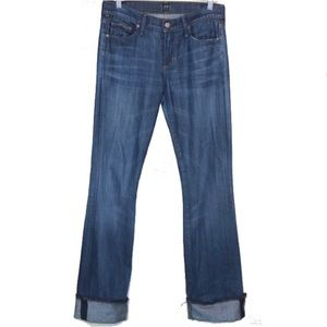 Citizens of Humanity Amber Bootcut Cuffed Jeans 28
